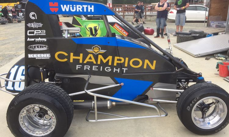 Kyle Glover's TQ Midget Racing vehicle